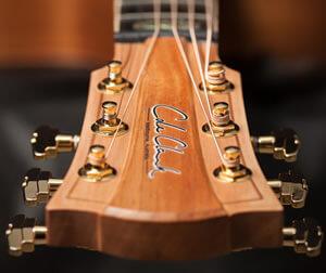 コールクラーク・ギターのヘッド部分