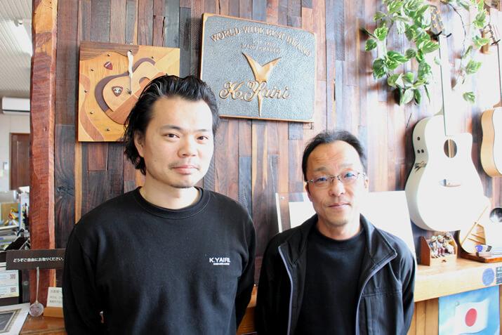 森さん(左)と矢入社長(右)